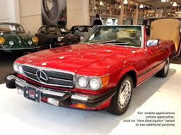 Finished in classic signal red with beautiful light tan interior. Used 1987 Mercedes Benz 560 Class 560sl For Sale 12 900 Cars Dawydiak Stock 161009 16
