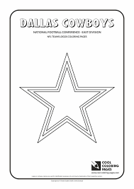 Cool Coloring Pages Dallas Cowboys Nfl American Football Teams
