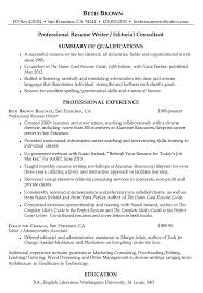Resume For Writers Free Resume Templates 2018