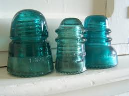 image of antique glass insulators for all colors