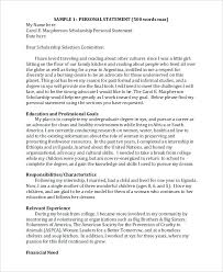 Personal Essays Examples Example Of For Scholarships Statement ...