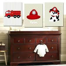 fire truck nursery decor fire truck wall decor fire truck personalized name print set nursery room