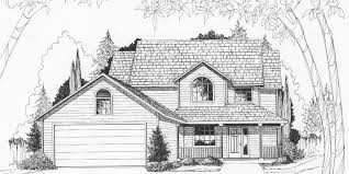 house front color elevation view for 9904wd two story house plans 4 bedroom house plans