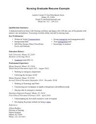 Nurse Resume Objectives Samples Registered Example New Graduate