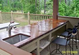 nett outdoor kitchen wood countertops