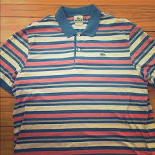 Lacoste Polo Shirt Color Chart Lacoste Mens Short Sleeve Top This Multi Colored Lacoste