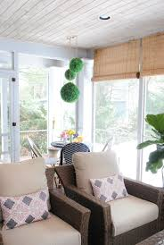 screened in porch furniture. A Small Woven Wicker Dining Set On Screened In Porch Furniture
