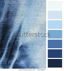 Blue Denim Jeans Color Complimentary Chart Royalty Free
