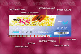 Event Ticket Printing Software 32 Printable Ticket Templates Psd Ai Word