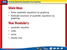 2 lesson 2 mi vocab quadratic equation