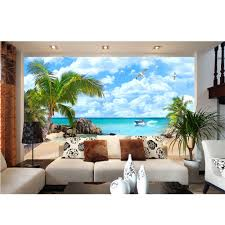Palm Tree Decor For Living Room Popular Wallpaper Palm Tree Buy Cheap Wallpaper Palm Tree Lots