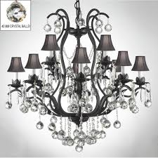 full size of furniture endearing black wrought iron chandelier with crystals 3 attractive 5 swarovski crystal