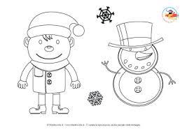 Disegni Da Colorare Per Natale Bimbo Con Pupazzo Di Neve