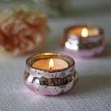 Wedding Tea Light Holders Mini Mercury Pink Tea Light Holder