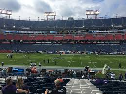 Titans Seating Chart With Rows Nissan Stadium Section 111 Tennessee Titans