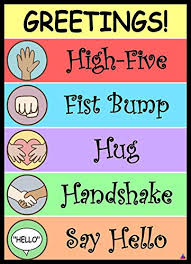 Classroom Decoration Charts For High School Greetings Poster Laminated Size 14x19 5 In Classroom Decorations Pediatrician Doctors Office Poster Back To School Supplies Teacher Supplies