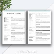 Modern Resume Cover Letters Professional Resume Template Cv Template Creative Resume Design