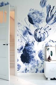Kek Amsterdam Wonderwalls Fotobehang Royal Blue Flowers Ii