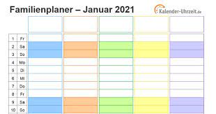 Mit diesen 15 kalender vorlagen bist du gut für das jahr. Familienkalender 2021 Download Freeware De