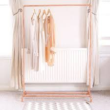 copper pipe clothing rail garment rack clothes storage more