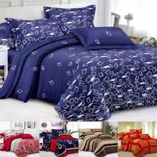 bedsheet queen size 4 in 1 cadar murah 4 in 1 corak