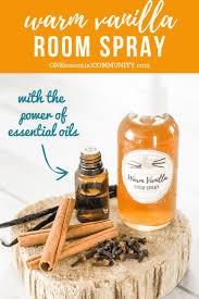 homemade warm vanilla room spray with