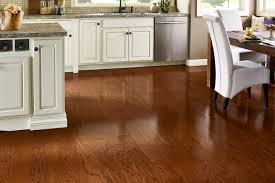 red oak hardwood with mid level hardness in a kitchen