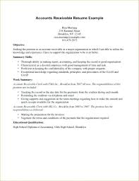 Exelent Accounts Payable Receivable Resume Samples Composition