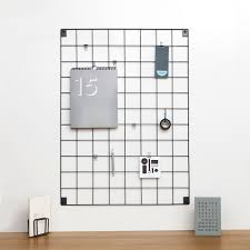 wire mesh memo board for the office and home by block block wire mesh memo board grey