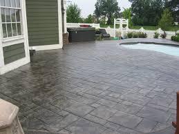 stamped concrete patio. Backyard Stamped Concrete Patio Ideas O
