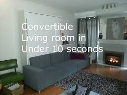 Seconds Bedroom Furniture Bedroom Transforms Into Lounge In 10 Seconds With This Sofa Wall