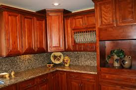 Cherry Kitchen Cabinets Gallery Laluz NYC 12 Beauty Rustic Light
