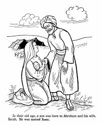 Isaac Is Born To Abraham And Sarah When They Are Old Bible Coloring