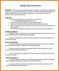 What Is The Objective Section On A Resume 100 resume objective section men weight chart 40