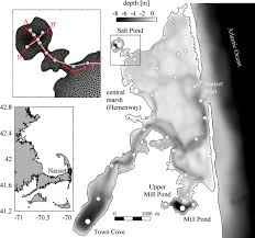 Nauset Estuary Location Bathymetry And Model Grid Detail