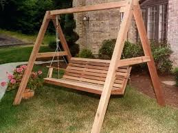 Wood Porch Swing Plans With Frame Wooden Melbourne. Wood Porch Swing Frame  Sets Wooden With Metal Plans Es. Belham Living Richmond Wood Porch Swing  Stand ...