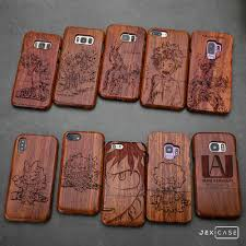 my hero academia natural wood wooden phone case cover for iphone x 8 samsung s9