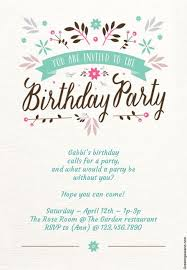 Free 13th Birthday Invitations 15 Free Printable Childrens Birthday Party Invitations