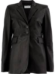 wales bonner fitted leather jacket