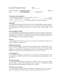Free Printable Contracts Contract Freelance Contract Template 22