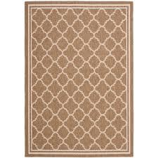 safavieh courtyard brown bone 9 ft x 12 ft indoor outdoor area rug cy6918 242 9 the home depot
