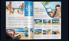 Sample Travel Brochure Template Print Ready Travel Agency Brochure