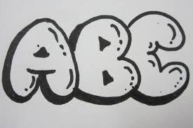 How To Draw Bubble Letters All Capital Letters Youtube