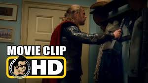 Superhero Coat Rack Thor The Dark World 100 Movie Clip Thor Hangs His Hammer on 97