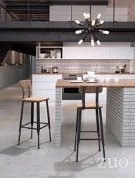 modern industrial living clay bar chair natural pine industrial gray room vine bar stools white bar
