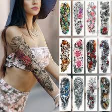 большая рука рукав татуировки водонепроницаемый временные татуировки наклейки