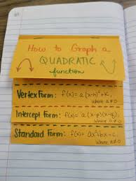 how to graph a quadratic function foldable outside
