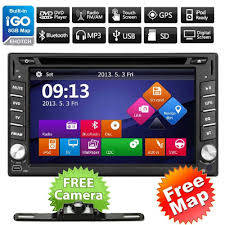 double din navigation vehicle electronics gps gps navigation hd double 2 din car stereo dvd player bluetooth radio mp3 in dash