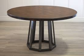 Rustic Industrial Round Pedestal Table