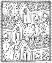 Small Picture adult christmas house candy Coloring pages Printable